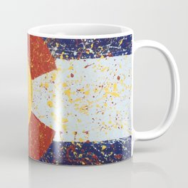 Splatter Colorado Flag Art Coffee Mug
