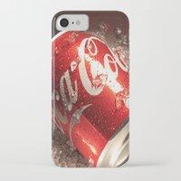 coca cola iPhone & iPod Cases featuring Coca Cola by MarianaManina