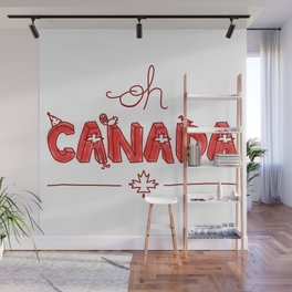 Oh Canada Day (Handlettered) Wall Mural
