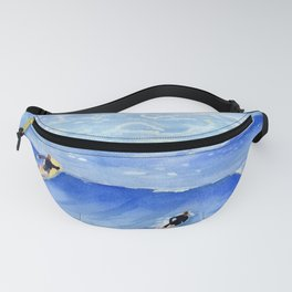 Getting ready to take this wave surf art Fanny Pack