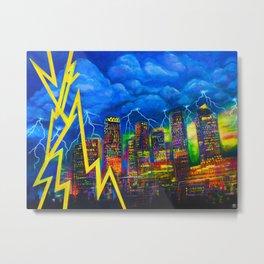 City of Bolts Metal Print