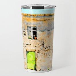 Tortora's building with small fountain Travel Mug