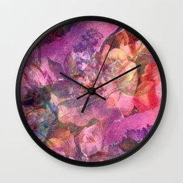 Unfolding Flowers Wall Clock