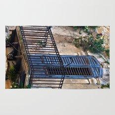 Blue Sicilian Door on the Balcony Rug