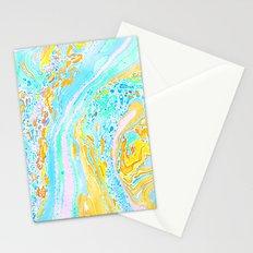 Marble Aqua Stationery Cards