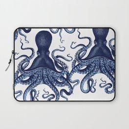 Watercolor blue vintage octopus Laptop Sleeve