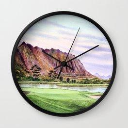 Koolau Golf Course Hawaii 16th Hole Wall Clock