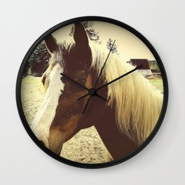 Portrait Of A Gentle Friend Wall Clock