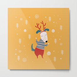 Merry Christmas card 4 Metal Print