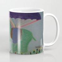 baby elephant Mugs featuring Elephant with Baby Elephant by SBHarrison