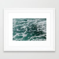 Framed Art Prints featuring Ocean Waves by Alicia Magnuson