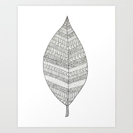 Patterned Leaf Art Print