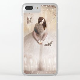 Moth Princess Clear iPhone Case