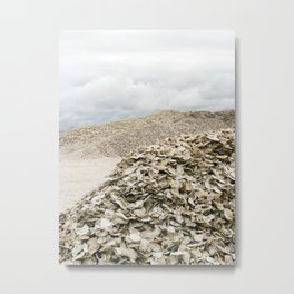 Oyster Shell Mounds, Seafood Fishing Industry, Washington, Northwest Metal Print