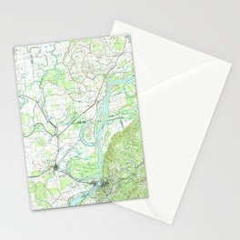 MS Natchez 337236 1991 topographic map Stationery Cards