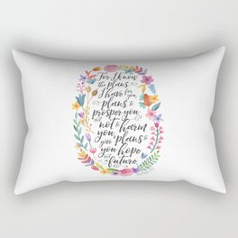 Hope and a Future - Jeremiah 29:11 Rectangular Pillow