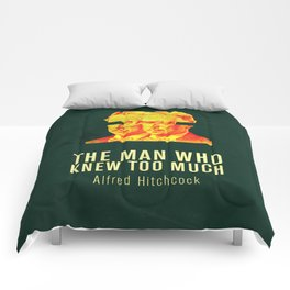 MAN WHO KNEW TO MUCH - Hitchcok Poster Comforters