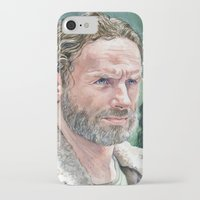 rick grimes iPhone & iPod Cases featuring Rick Grimes by Mark Satchwill Art