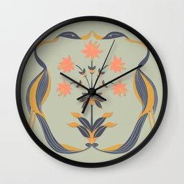 Dancing Cranes Wall Clock