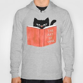 Cat reading book Hoody