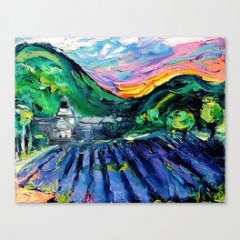 Abbaye Notre-Dame de Senanque Canvas Print