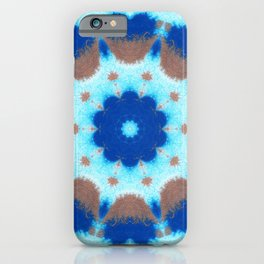 She Dreams Of Blue Flowers iPhone Case