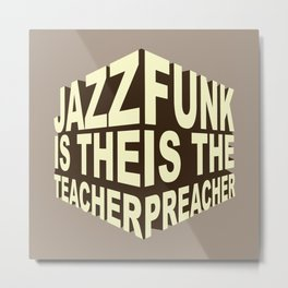 Jazz Funk Cube Metal Print