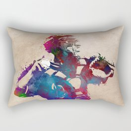 Baseball player 1 #baseball #sport Rectangular Pillow