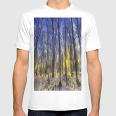 The Forest Van Gogh MEDIUM Mens Fitted Tee White