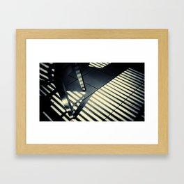 Shadow Slit Abstract Framed Art Print