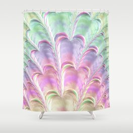 Pastel Fan Shower Curtain