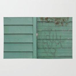 Green graffiti wall Rug