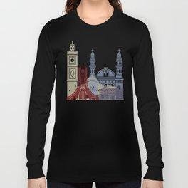 Algiers skyline poster Long Sleeve T-shirt