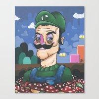 luigi Canvas Prints featuring Luigi by Cody Fisher