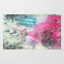 Grunge magenta teal hand painted watercolor Rug