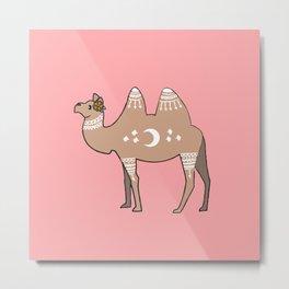 Mandala Camel Metal Print