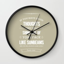 Roald Dahl quote - stone Wall Clock