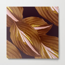 Beautiful Leaves on Black Background #decor #society6 #buyart Metal Print