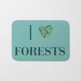 I heart Forests Bath Mat