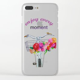 Enjoy every moment Clear iPhone Case