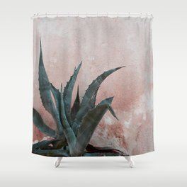 Pink Blue Cactus Shower Curtain