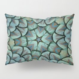 Classic Peacock Feather Kaleidoscope  Pillow Sham