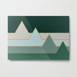 Green Mountains #society6 #decor #buyart Metal Print