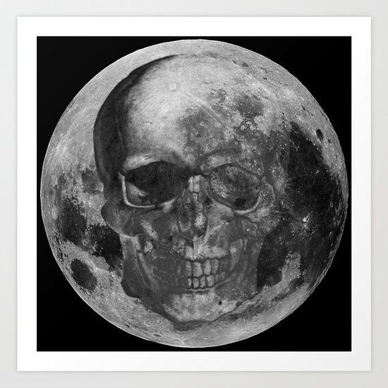 Poisoned Universe-Moon Art Print