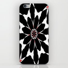Bizarre Red Black and White Pattern 4 iPhone Skin