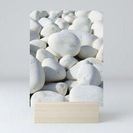 White stones Mini Art Print