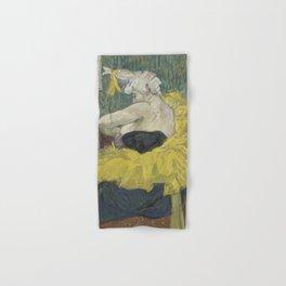 "Henri de Toulouse-Lautrec ""The Clown Cha-U-Kao"" Hand & Bath Towel"