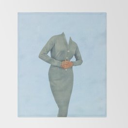 Blue on Blue Throw Blanket