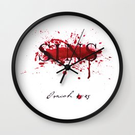 His blood blots out our sins -Isaiah 43:25 Wall Clock