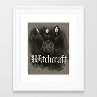 witchcraft Framed Art Prints featuring Witchcraft by Corpse inc